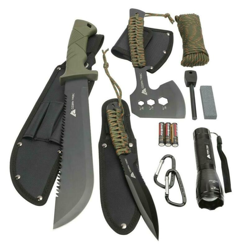 Ozark Trail 4987 12-Pack Camping Tool Set, Knives & Tools , Olive