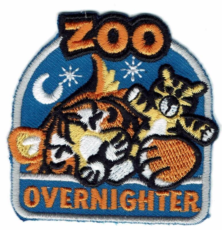 Girl Boy Cub ZOO OVERNIGHTER Overnight Trip Patch Crest Badge Scout Tiger Sleep
