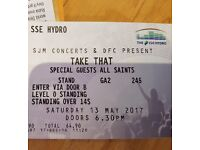 TAKE THAT SATURDAY 13TH MAY STANDING TICKETS
