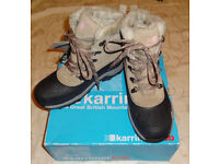 Brand New Ladies Womens Girls Snow Fur Weathertite KARRIMOR Walking Hiking Boots! Size 5 / five!