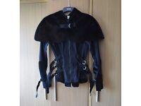 Necessary Evil jacket faux fur RARE size 10 12 14
