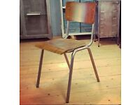 Vintage Style Stackable School Chairs