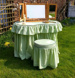 Kidney Shaped Dressing Table and Stool