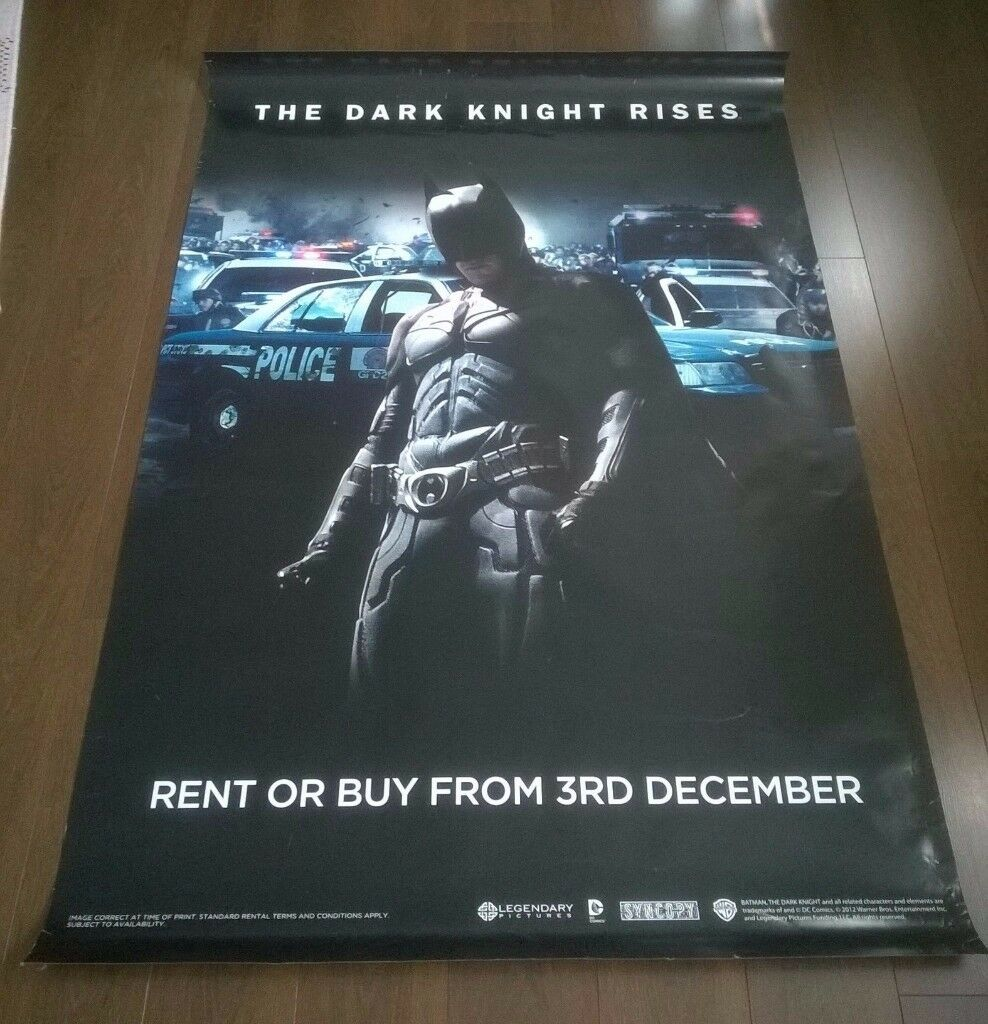 batman ' the dark knight rises ' large ( 180 cm x 120 cm ) film poster