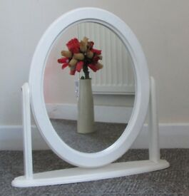 Mirror dressing table top or table top small stunning adjustable mirror Oval mirror boutique saloon