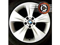 """19"""" Genuine BMW X5 X6 staggered alloys excel condition with tyres."""