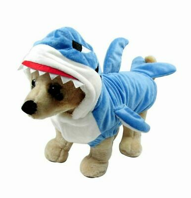 Funny Pet Cat Halloween Costumes (New Funny Dog Cat Shark Costume Pet Halloween Christmas Cosplay Dress Adorable)