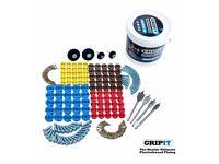 GripIt Grip It Assorted Trade Tub 100 Plasterboard Fixings + Drill Bits, Screws