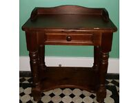 Solid Pine Quality Small Table with Drawer