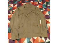 Kahki military style jacket