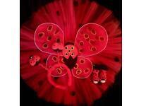 6-12m ladybird Tutu and accessories