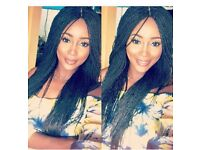 Lovely million braid wigs with lace frontals at affordable price