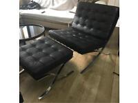 Barcelona Style Chair and Ottoman CALL 07757671484
