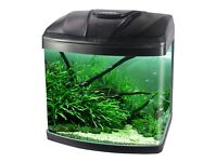 15L Aquarium Fish GlassTank Fresh Water LED Light Filter Black