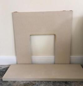 MARBLE FIREPLACE SURROUND & HEARTH [REDUCED]