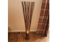 Living room cane/ratten style lamp