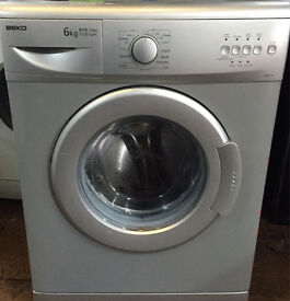 Beko WM6133S 6kg 1300 Spin Silver A+A Rated Washing Machine 1 YEAR GUARANTEE FREE FITTING