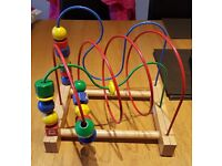 Wooden bead maze toy for sale