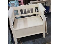 Monks chair with storage solid wood