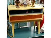 Vintage 1970s Retro Side Table/TV unit