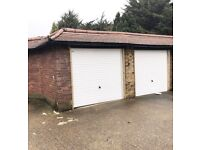 Spacious double garage to rent. Ideal for easy storage!