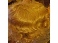 Ladies blonde marcel wave wig