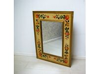 Beautiful fully hand painted mirror