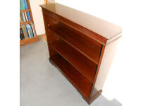 Mahogany Bookcase, Display, DVD or Book Shelves - Two Adjustable Shelves