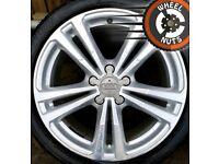 "18"" Genuine Audi A3 S Line alloys Golf Caddy Leon fair cond premium tyres."