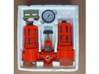 In-line Air Tool Air Filter, Regulator and Lubricating Station – new and unused