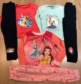GIRLS KIDS PYJAMAS BUNDLE SIZE 5-6 YEARS
