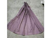2 Purple Lined Black Out Eyelet Curtains 137cm drop 168cm wide