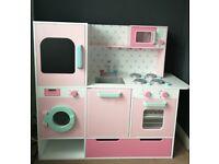 Kids wooden play kitchen pink / GLTC GUMDROP