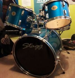 Five piece Stagg drumkit. Used but in good condition. Good value.