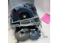 KRESS (German) Electric Saw,190mm,corded,220/240v ,1400w.Hardly used-with carry box and 2 new blades
