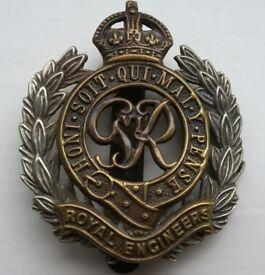 WW2 Military Items. Cap Badge, Ribbons, Medal etc