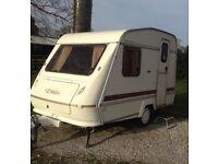 Rare 12 ft caravan 2 berth with full awning,780kg laden!!