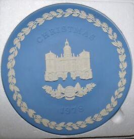 Wedgewood Blue Jasper Christmas plates