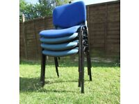 4 stacking chairs office reception chairs dining chairs industrial chairs DELIVERY AVAILABLE