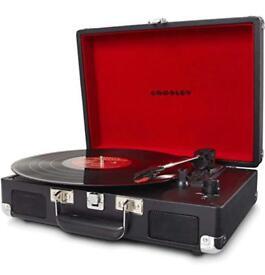 CROSLEY Cruiser Turntable - Portable Record Player - Black