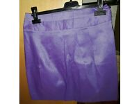 Shimmer violet/purple party short skirt. Size 12 (small)