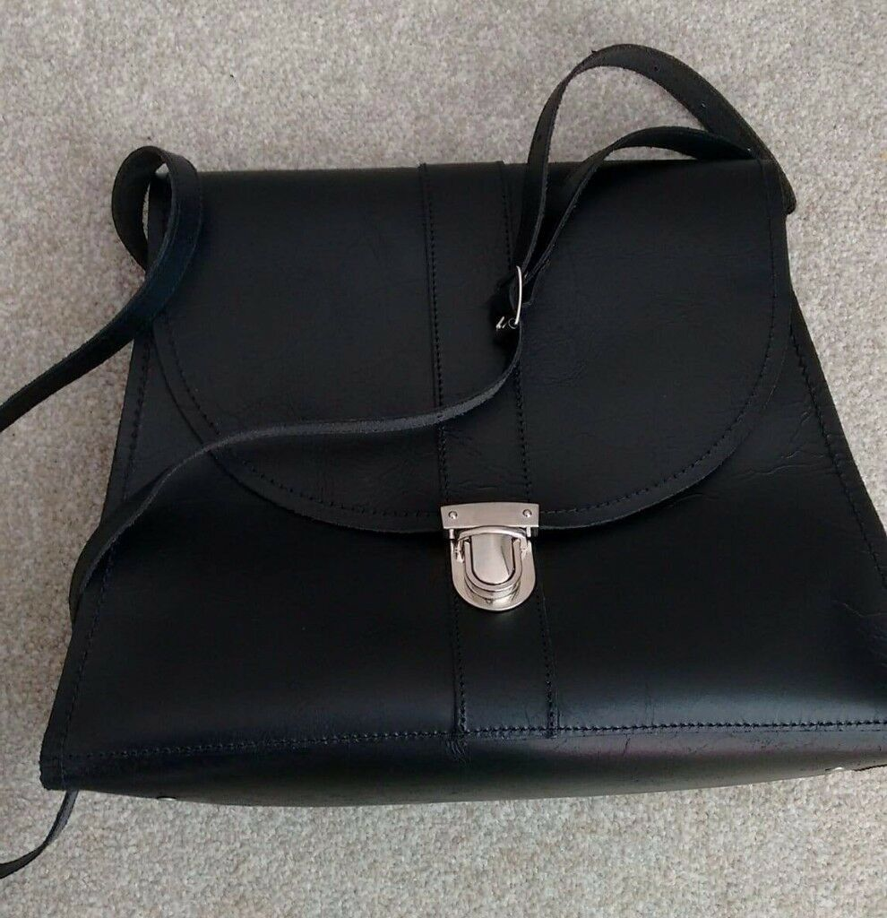 Original, genuine leather, women's ,brand new, black bag.Zatchels. £60