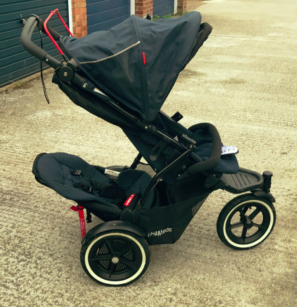 Phil & Teds Double Stroller with Extra bits!