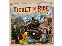 Ticket to Ride Europe + Europa 1912 Expansion Bundle Boardgame Board Game