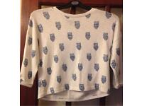 Owl top/Jumper Aged 12/13