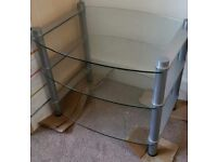 Silver/Glass TV Stand
