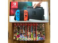 BRAND NEW Nintendo Switch Neon + 1xTop Game Pick! Fast RM Special Next Day Delivery.