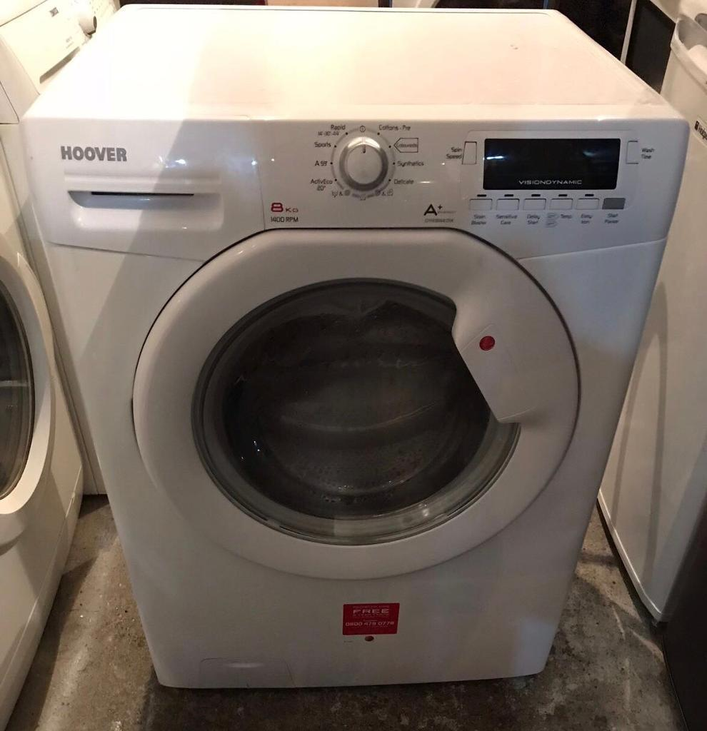 8kg A+ Hoover DYN8144D1X Fully Working Washing Machine with 4 Month Warranty