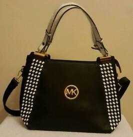 black and white ladies fashion bag