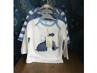 NEW - 3 long sleeved tops for 6-9 month baby boy